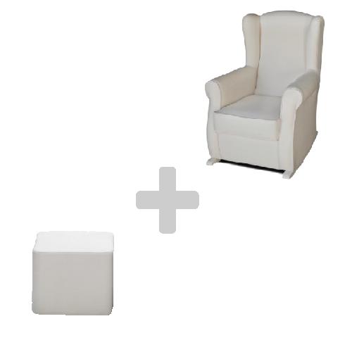 sillón mas pouff palucas sillón de lactancia