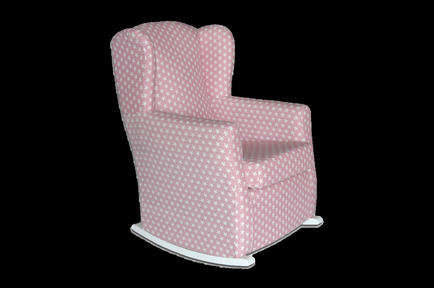 sillón de lactancia meta estrellas rosa