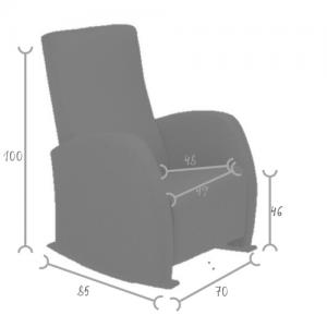 medidas oria sillón lactancia
